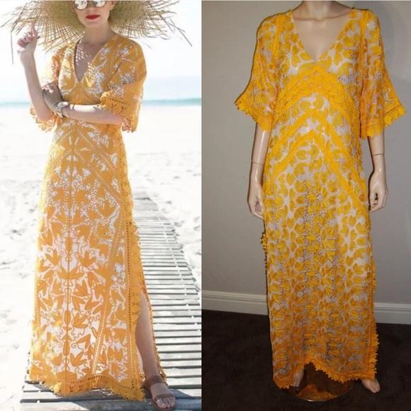2c2f3563d76 Oshoplive yellow Bohemian Long Dress M. M 5c90011b9539f78bd29d9b61